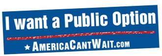 I Want A Public Option Sticker