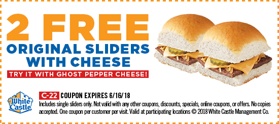 photo regarding White Castle Printable Coupons named Free of charge White Castle Slider Printable Coupon