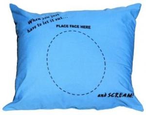 Screaming Pillow Blue