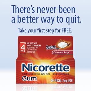 Dead* free sample of nicorette gum.