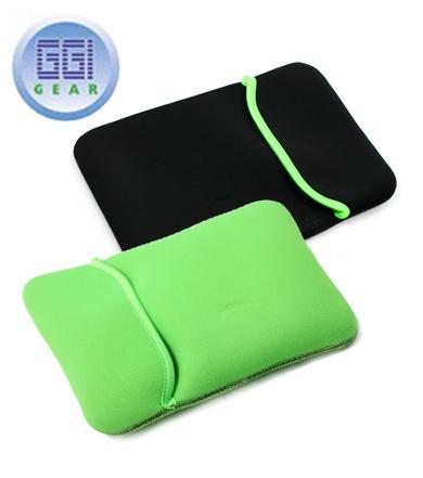 Reversible Black & Green Shock-Resistant Neoprene Netbook Sleeve