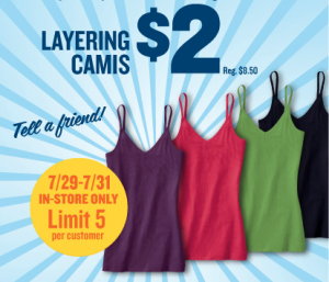 old navy $2 cami