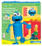 K'Nex Kid Sesame Street Cookie Monster and Hooper's Store Building Set