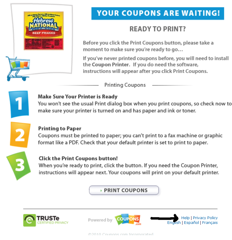Have free coupons sent to your home
