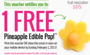 free pineapple edible pop