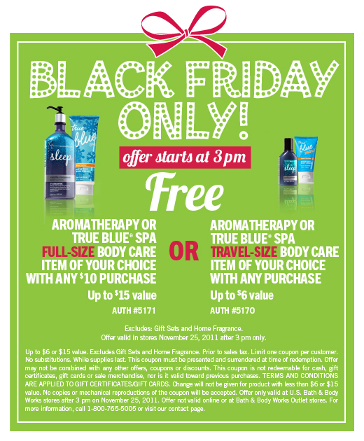 Bath and Body Works - Black Friday Deal