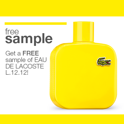 free sample of lacoste