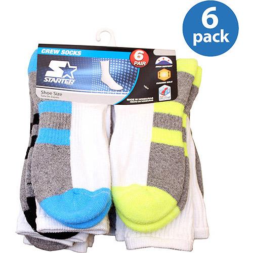 Starter Boys Crew Socks 6-Pack
