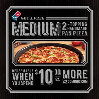 free dominos pizza
