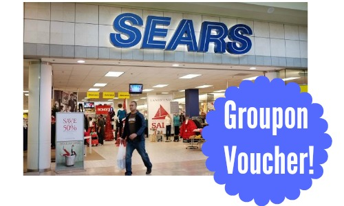 sears groupon voucher