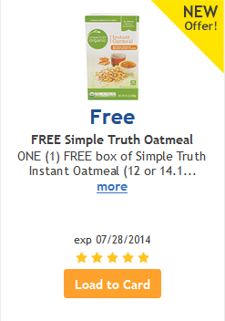 free oatmeal from Ralphs