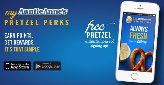 auntie annes free pretzel