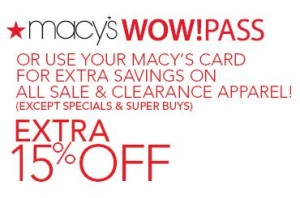 30% Off Macy's Coupon – Friends & Family Printable & Mobile: Save 30% off on shoes, clothing and home items. 25% off watches, 15% off in beauty and 10% off appliances and furniture. Online: Enter Code: FRIEND at checkout. (December)10% Macy's Visitor's Coupon Printable & Mobile: Domestic Visitors may present this savings pass for a 10% discount on thousands of items throughout the.