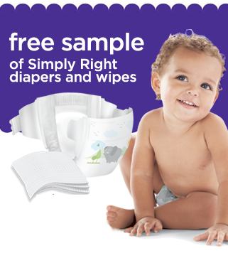 free sample of simply right diapers and wipes