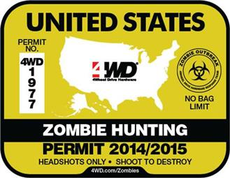 zombie hunting decal