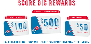 dominos gift card 37000