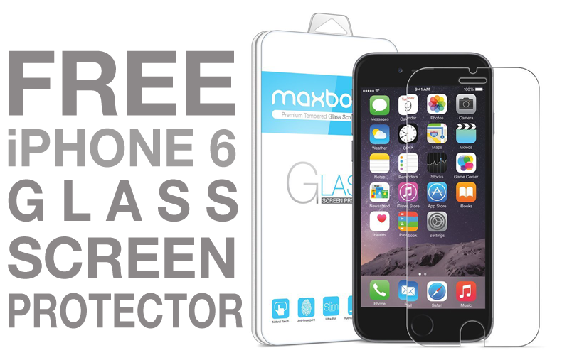 free iphone 6 glass screen protector