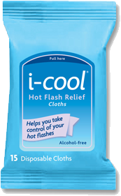 icool hot flash relief cloths