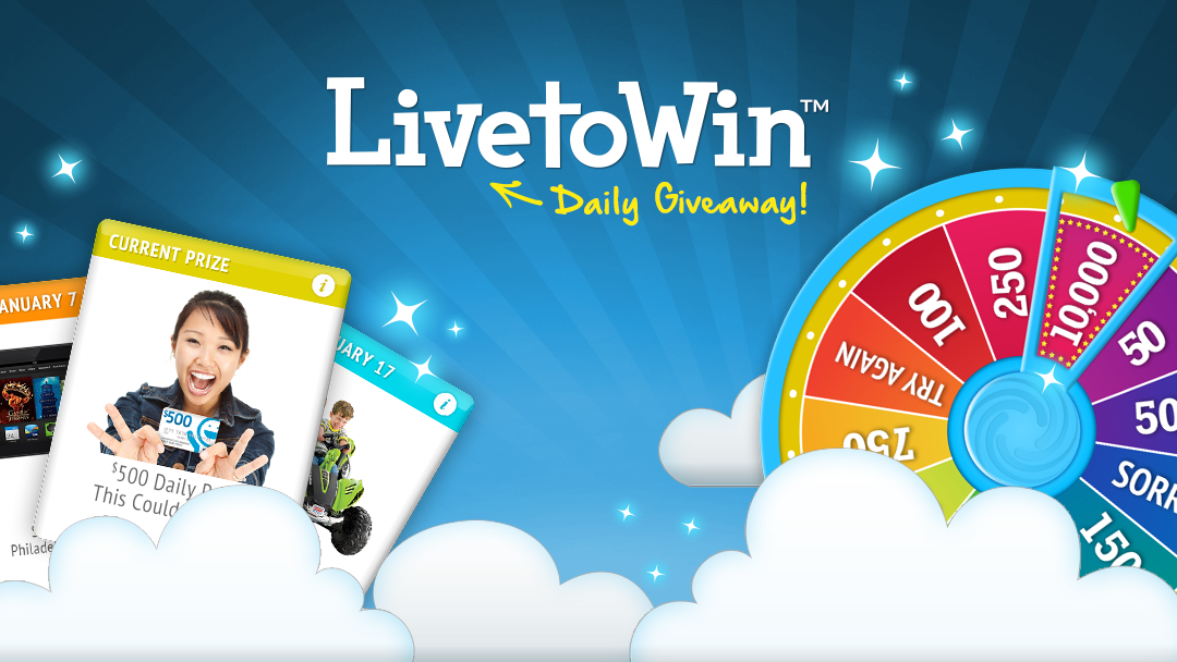 livetowin daily giveaway