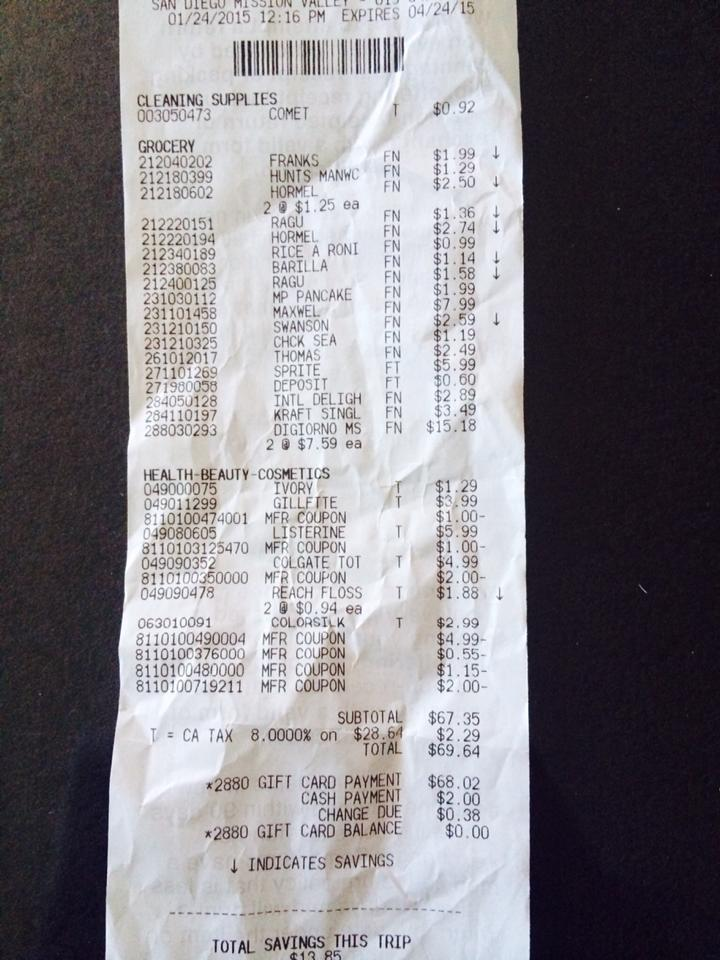 how i got  80 in items at target for 62 cents