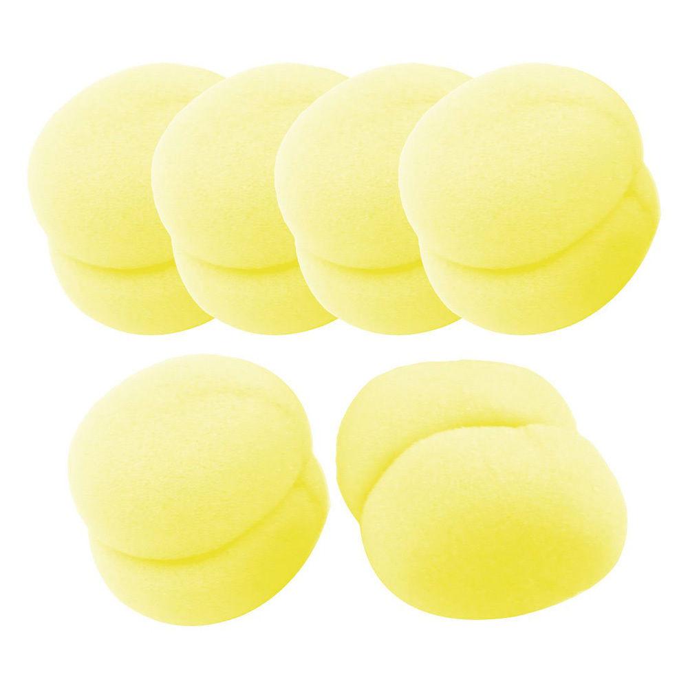 yellow hair curler tool