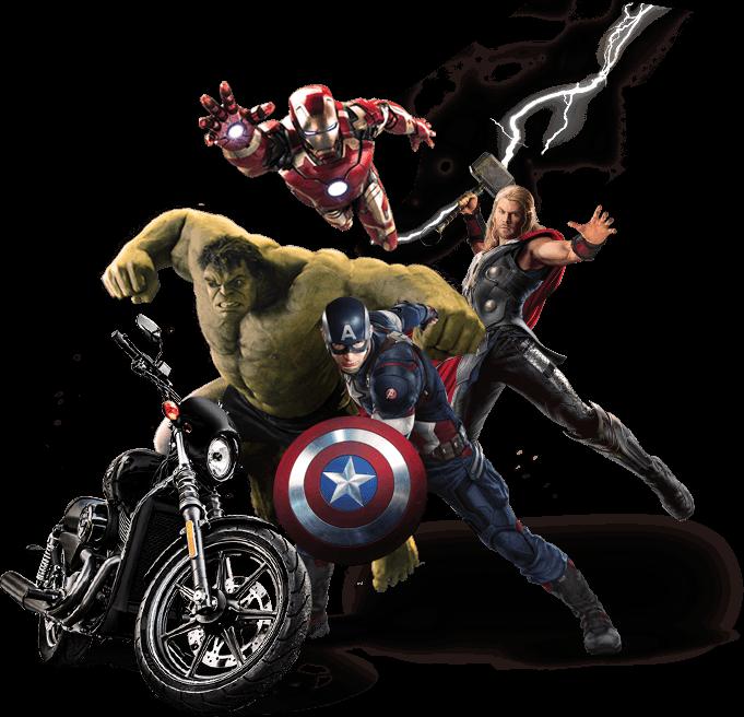 free harley avengers sticker