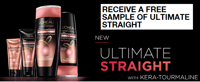 free sample of loreal ultimate straight