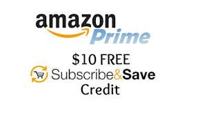 amazon prime subscribe and save credit