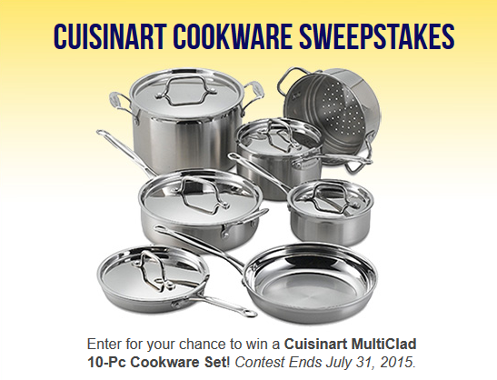 cuisinart cookware sweepstakes