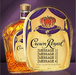 crown royal custom label