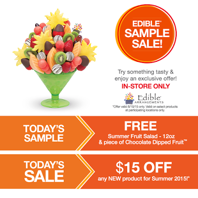 edible arrangements free fruit