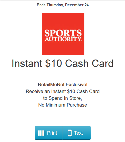 sports authority free 10