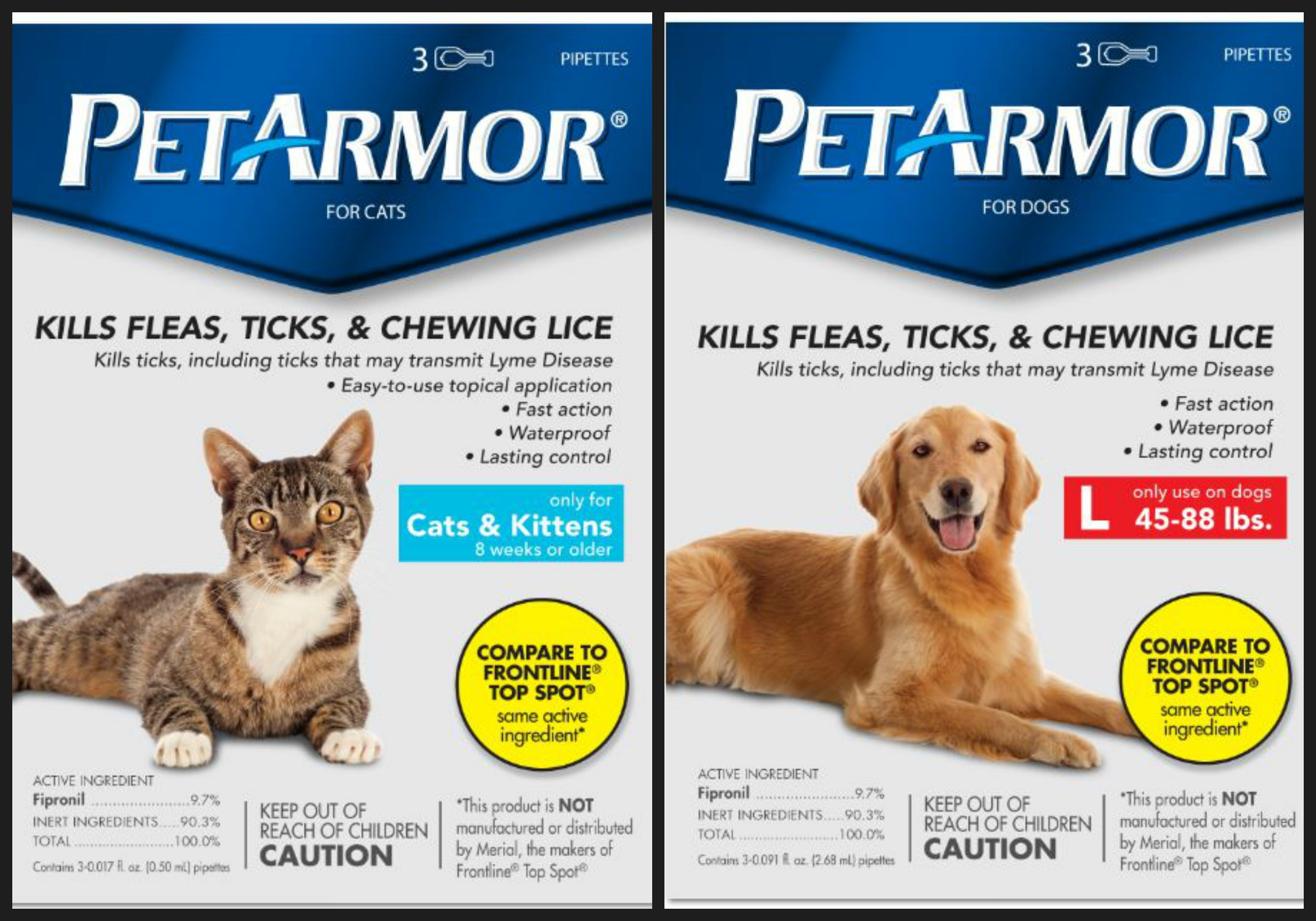 Free Sample of PetArmor for Dogs and Cats