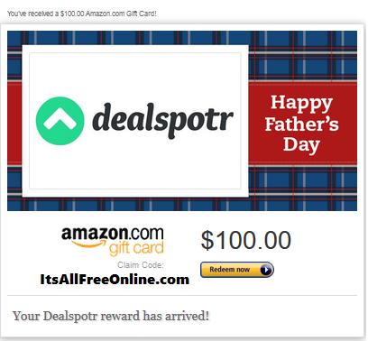 dealspotr 100 gift card