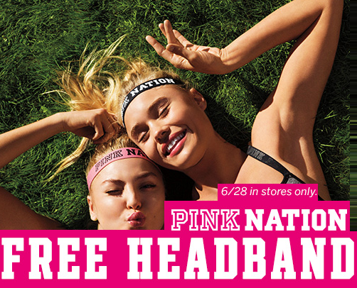 pink nation free headband