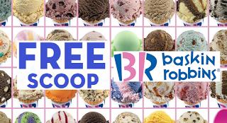 baskin robbins free scoop