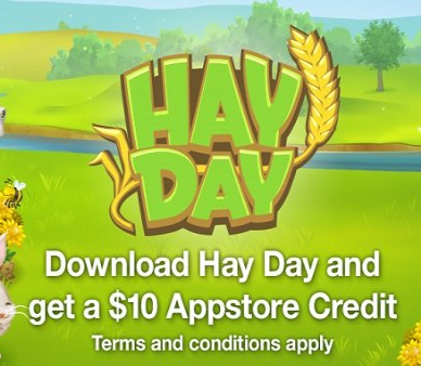 hayday free credit