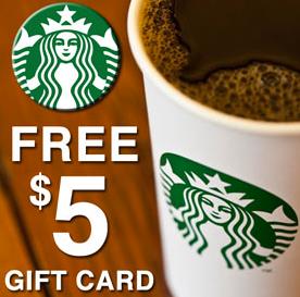 free 5 starbucks