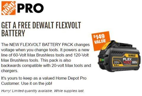 home depot free battery